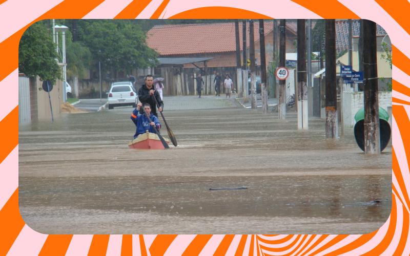 problemas da enchente