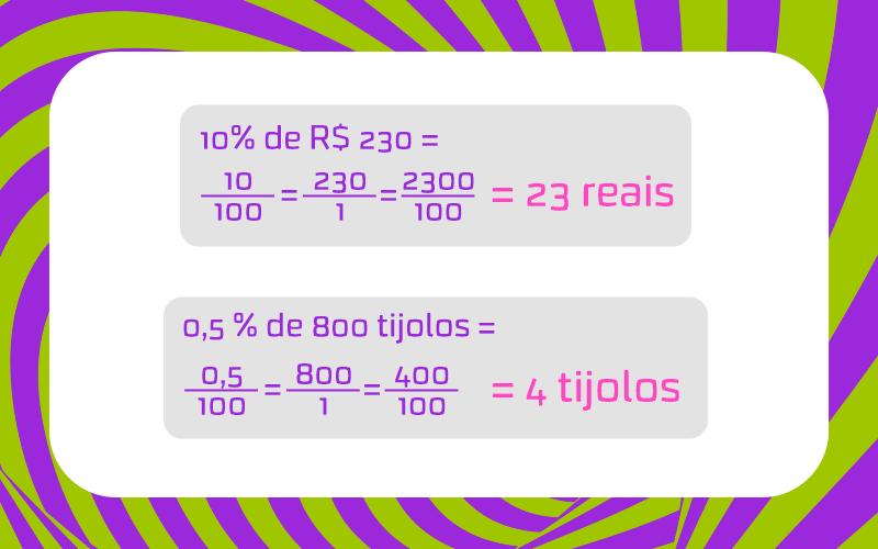 cálculo porcentagem
